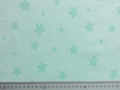 RESTSTÜCK 38 cm Sweat Alpenfleece Sterne-hellgrün m. grün