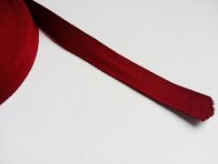 Gurtband Baumwolle 2,5 cm breit-dunkelrot #72