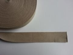 Gurtband Baumwolle 4 cm breit, taupe #45