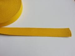Gurtband - 4 cm breit, senfgelb #52