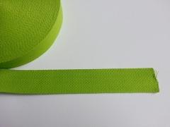 Gurtband Baumwolle 4 cm breit, lime #16