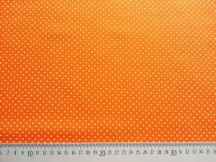 Popelin Pünktchen 2 mm, orange-weiß