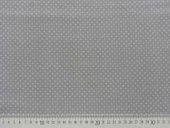 Reststück 74cm BW Punkte 2mm - hellgrau auf grau