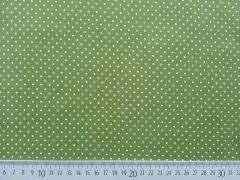 BW Punkte 2mm, oliv/weiß