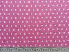 Baumwollstoff Sterne 1 cm, altrosa auf himbeer