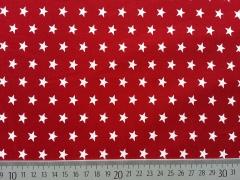 BW Sterne 1 cm, dunkelrot (granat)/weiß
