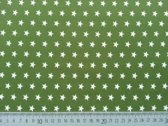 BW Sterne 1 cm, oliv/weiß