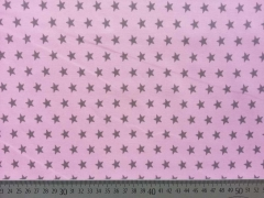 BW Sterne 1 cm - taupe auf rosa