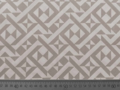 Stretchiger BW-Stoff Labyrinth-Muster, beige