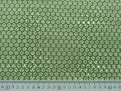 Baumwolle Streublümchen, oliv/weiß