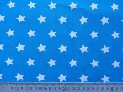 Sterne 2 cm, weiss auf türkis