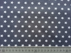 Sterne 1 cm, weiss auf dunkelgrau