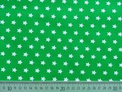 Sterne 1 cm, weiss auf Gras grün