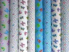 Jersey kleine Schmetterlinge, hellblau auf weiss
