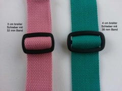 BW/Polyester Gurtband 3,8 cm breit, aquamarin