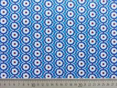 Baumwolle Jolijou Betty Butter Blumen, blau