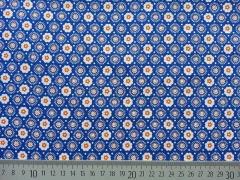 Blümchen - blau/oranges