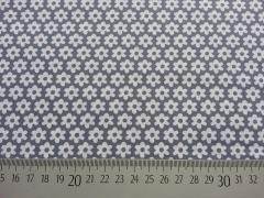 Blümchen -grau/weiß