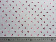 Baumwolle Little One Blumen & Herzen - grau