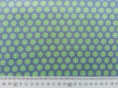 Baumwolle Mini Sonnenblumen-grün auf grau
