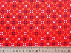 Baumwollstoff Kreuzblumen, rot
