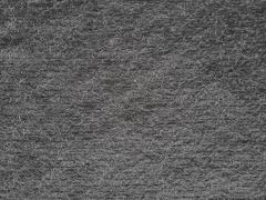 RESTSTÜCK 55 cm Boucle Stoff mit Fransen elastischer, grau