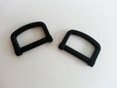 2 D-Ringe aus Kunststoff 2,5 cm breit