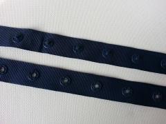 Druckerband-Druckknopfband Abstand 2,5 cm, dunkelblau