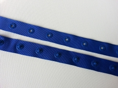Druckerband-Druckknopfband Abstand 2,5 cm, royalblau