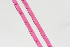 Druckknopfband Knopfabstand 5 cm - pink