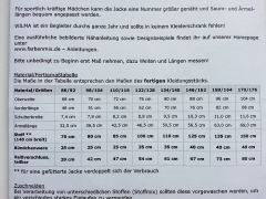 Schnittmuster Long Sweatjacke Wilma Farbenmix