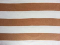 Fleece Blockstreifen 7 cm, camel/weiß