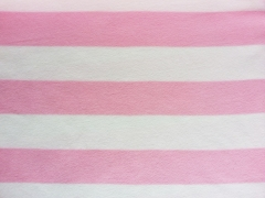 Fleece Blockstreifen 7 cm, rosa weiß