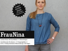 Schnittmuster Bluse mit Saumfalte Frau Nina Studio Schnittreif