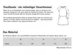 Schnittmuster Sweatkleid Frau Fannie Studio Schnittreif