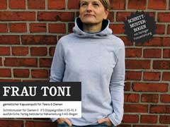 FrauToni Kapuzensweater für Damen Schnittmuster