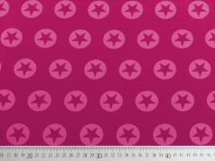 French Terry Stern im Kreis 3,2cm - rosa/himbeer