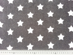 RESTSTÜCK 25 cm Sweat Frottee Sterne 3,3 cm, weiss dunkelgrau