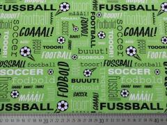 RESTSTÜCK 53 cm Crossing Typo Fußball Jersey Hilco - grün