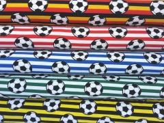 Jersey Fußball Streifen, weiß/rot