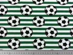 Jersey Fußball Streifen, weiß/grün