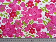 Baumwolle opulente Blumen, pink