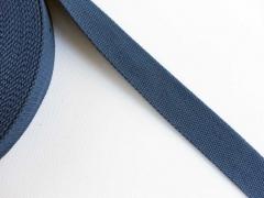 Gurtband Baumwolle PL, 3 cm breit, dunkel jeansblau