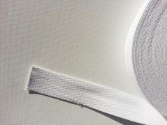 Gurtband Baumwolle 3,0 cm breit - weiß #1
