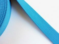 BW/Polyester Gurtband 3,8 cm breit, helltürkis
