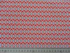 Jersey geometrisches Muster Hamburger Liebe, hellblau