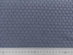 RESTSTÜCK 91 cm Jacquard Wabenmuster - graublau