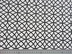 Jacquard Stoff Kringel Doubleface, schwarzweiss