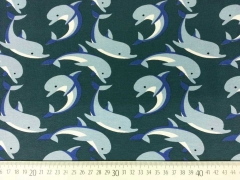 RESTSTÜCK 108 cm Jersey Delfine, petrol