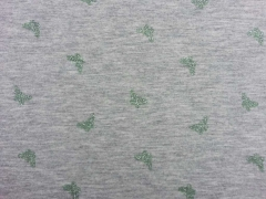 Jersey Metallic Print Glitzer Schmetterlinge mint